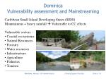 dominica vulnerability assessment and mainstreaming