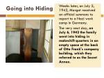 going into hiding