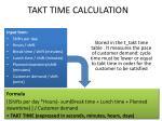 takt time calculation