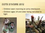 cote d ivoire 2012