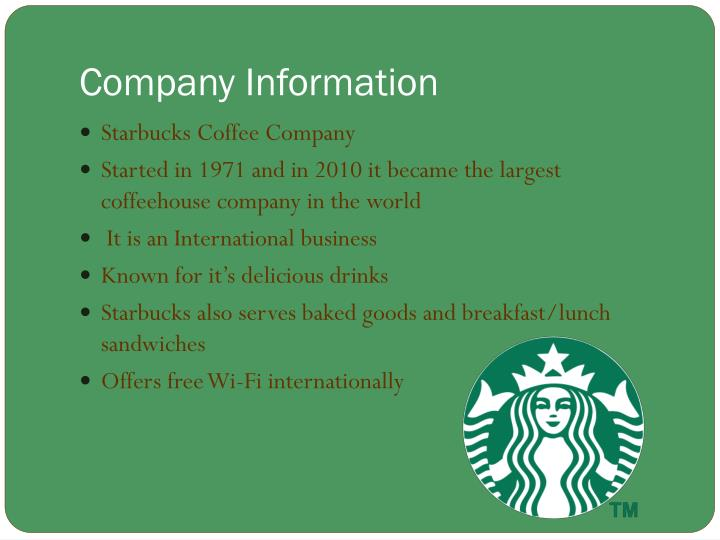 Ppt Starbucks Coffee Company Powerpoint Presentation