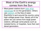 most of the earth s energy comes from the sun2