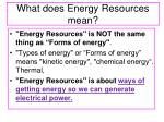 what does energy resources mean