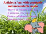 articles a an with countable and uncountable nouns1
