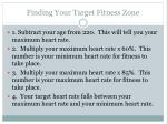 finding your target fitness zone