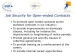 job security for open ended contracts