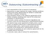 outsourcing subcontracting