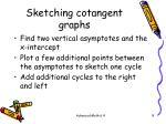 sketching cotangent graphs