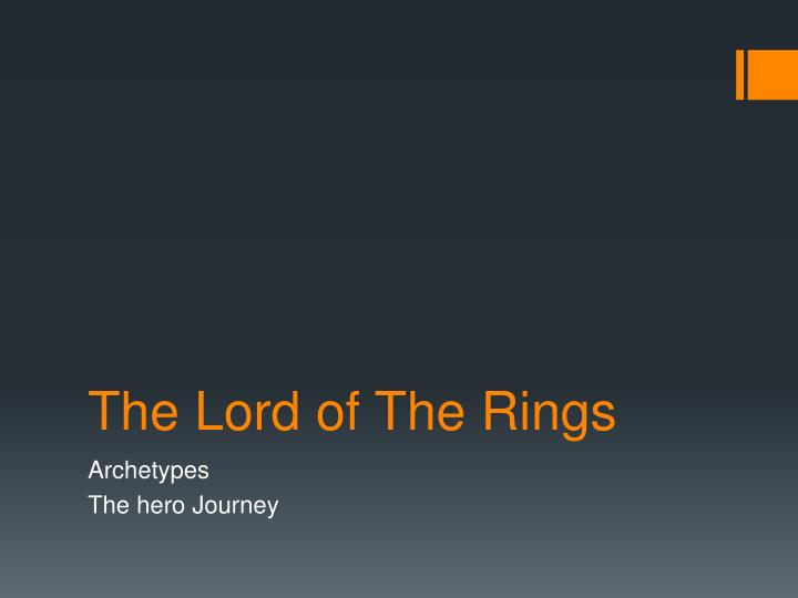 the lord of t he rings