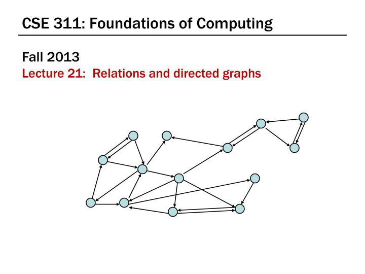 cse 311 foundations of computing n.