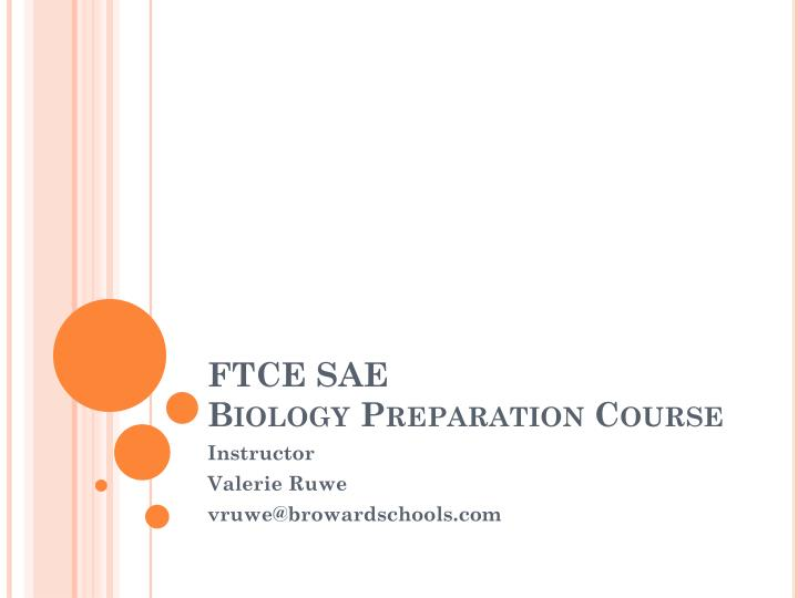 ftce sae biology preparation course n.