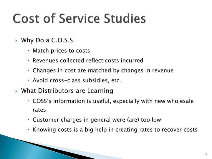 Cost of service studies1