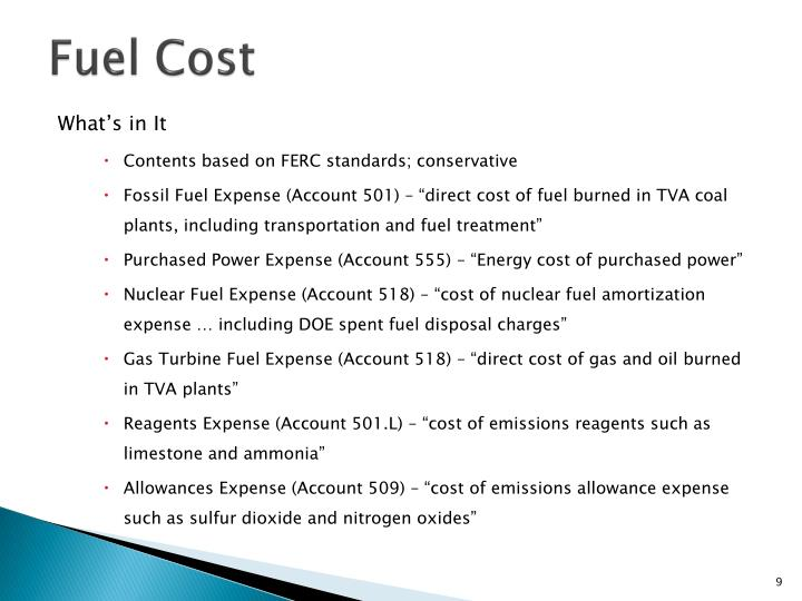 Fuel Cost
