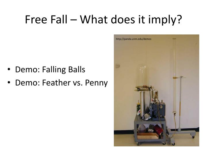 Free Fall – What does it imply?