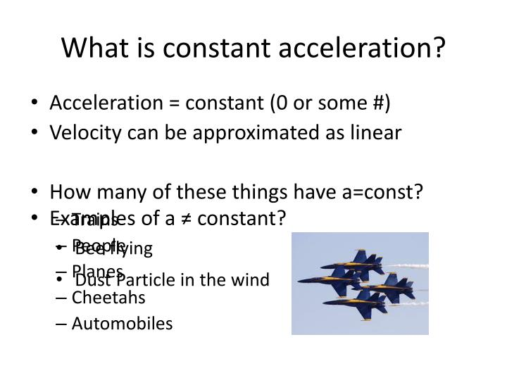 What is constant acceleration?
