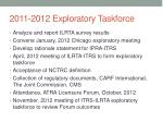 2011 2012 exploratory taskforce