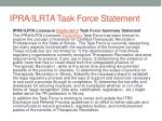 ipra ilrta task force statement