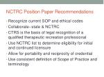 nctrc position paper recommendations