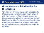 it foundation 2006