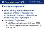 it foundation 2007