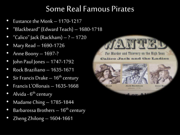 Some Real Famous Pirates