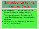 introduction to the cardiac cycle