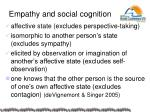empathy and social cognition