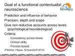 goal of a functional contextualist neuroscience