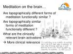 m editation on the brain