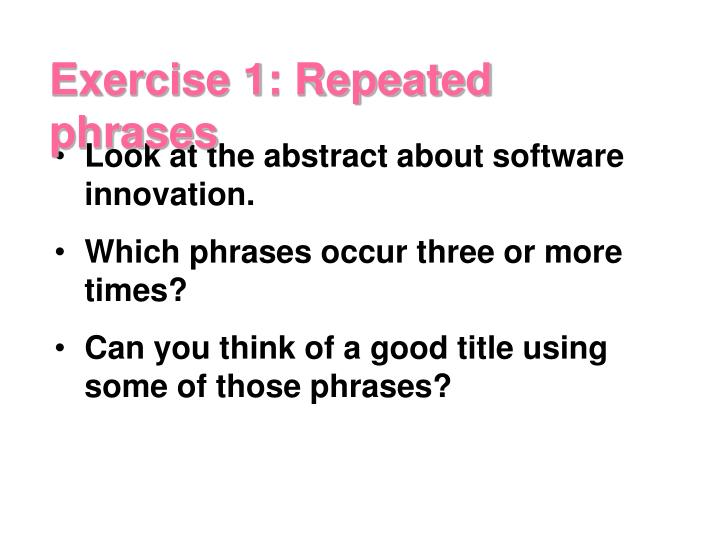 Look at the abstract about software innovation.