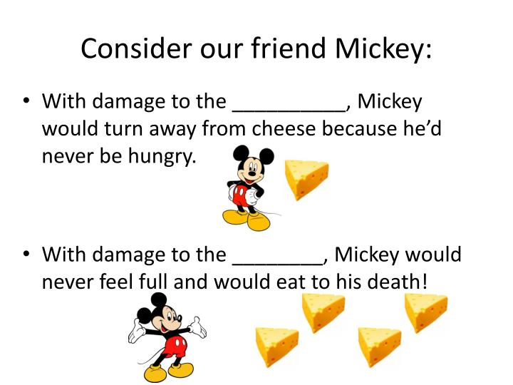 Consider our friend Mickey: