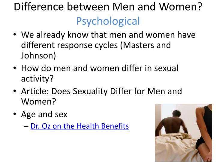 Difference between Men and Women?