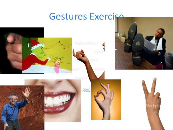 Gestures Exercise