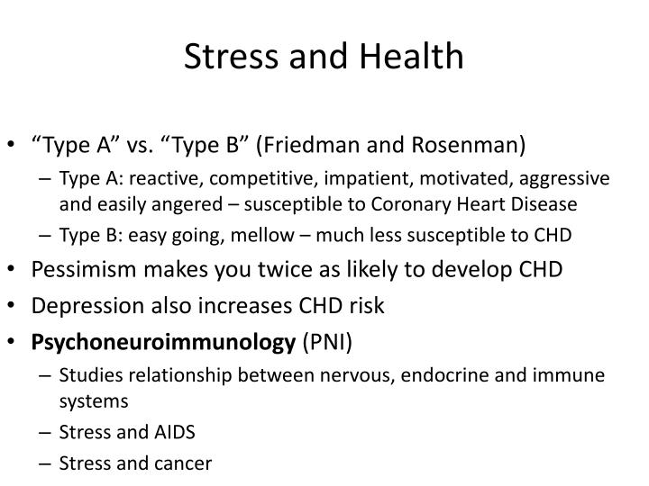 Stress and Health