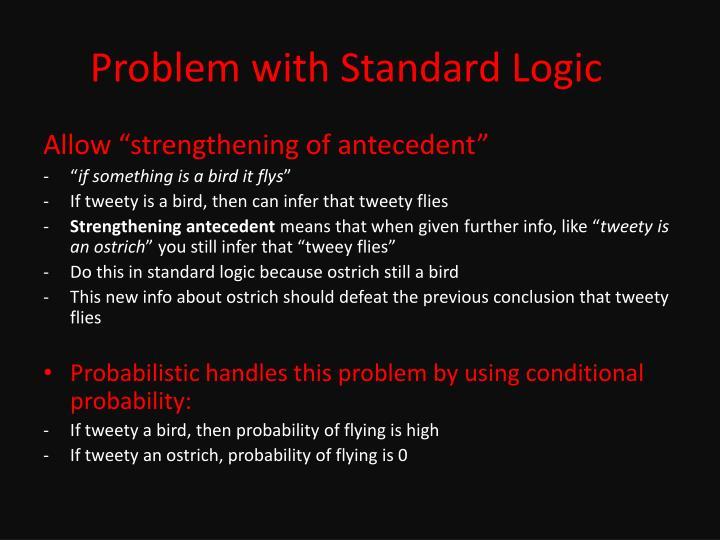 Problem with Standard Logic