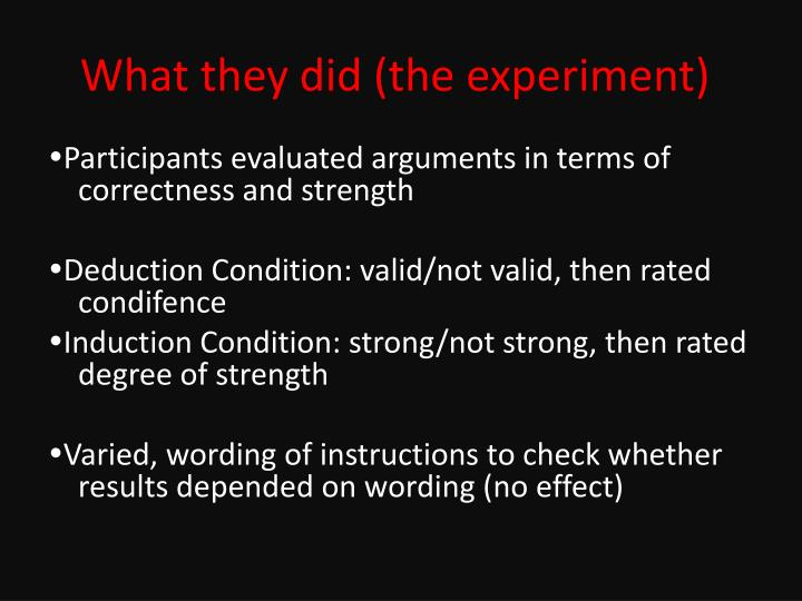 What they did (the experiment)