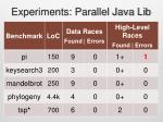experiments parallel java lib