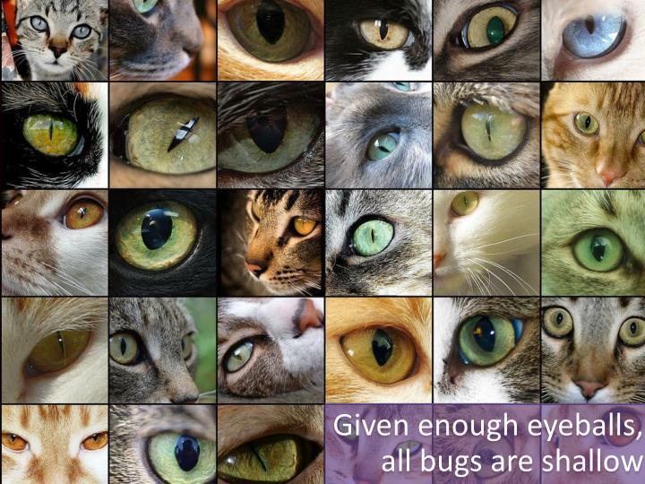 Given enough eyeballs,