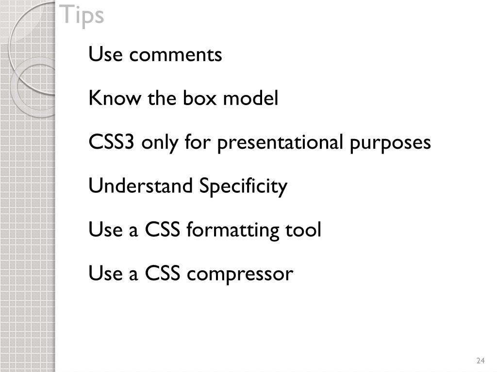 PPT - CSS Best Practices PowerPoint Presentation - ID:2255686