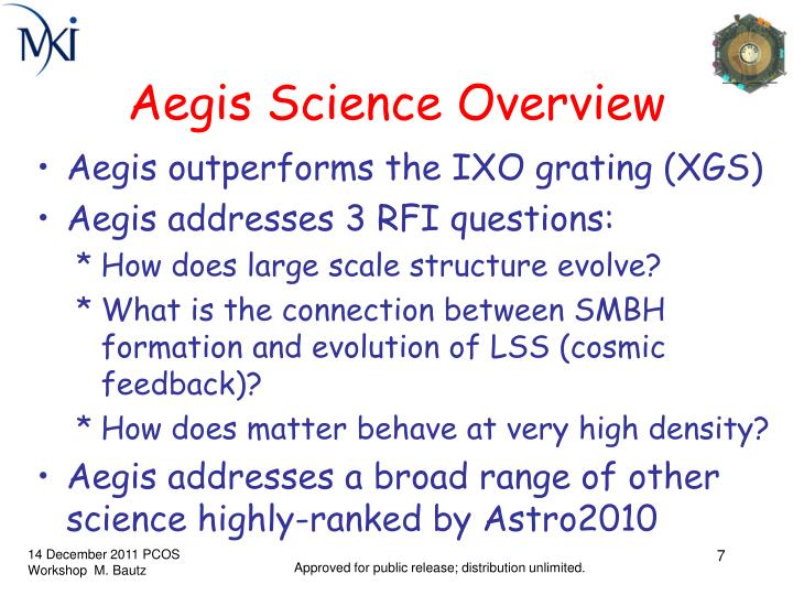 Aegis Science Overview