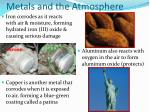 metals and the atmosphere