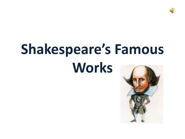 shakespeare s famous works n.