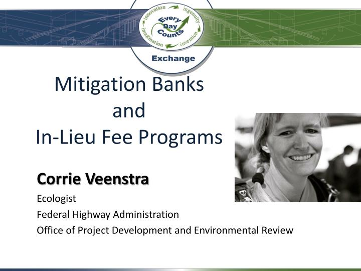 mitigation banks and in lieu fee programs n.
