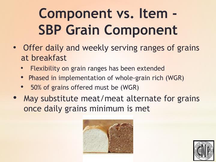 Component vs. Item -