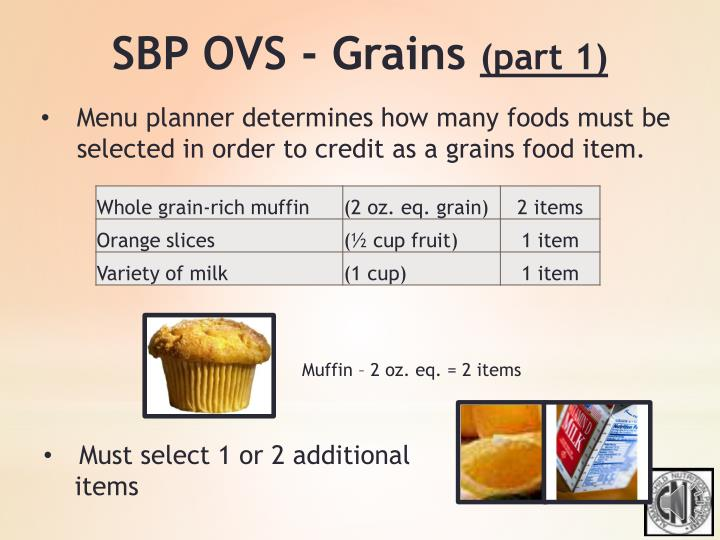 SBP OVS - Grains