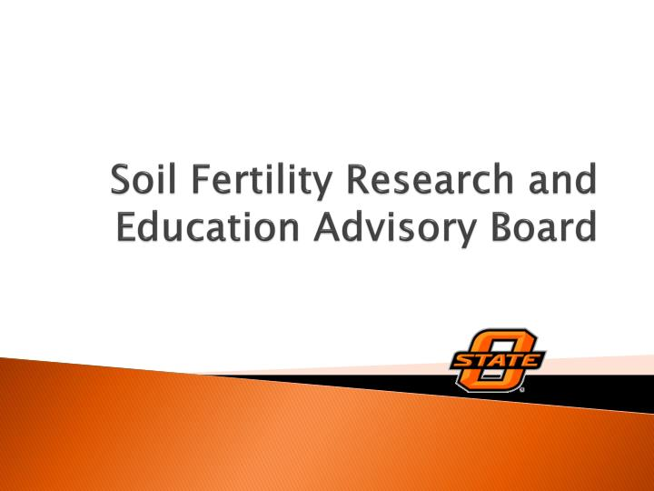 soil fertility research and education advisory board n.