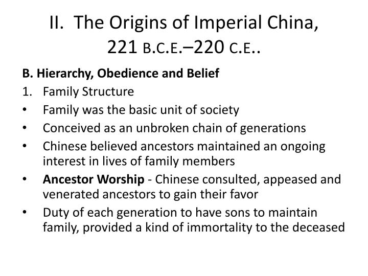 II.  The Origins of Imperial China,