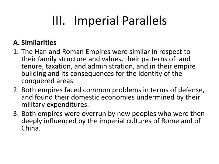 III.Imperial Parallels