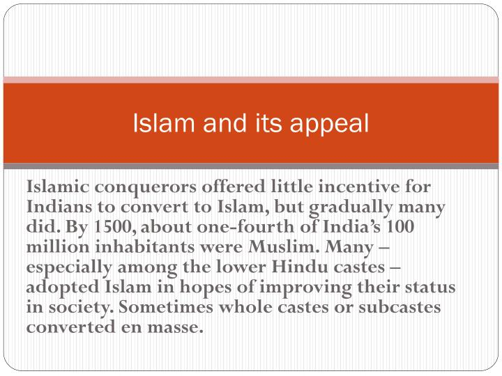 Islam and its appeal