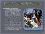 final thoughts st augustine
